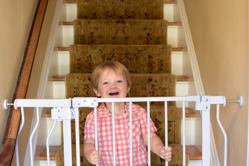 Hardware-Mounted Baby Gate